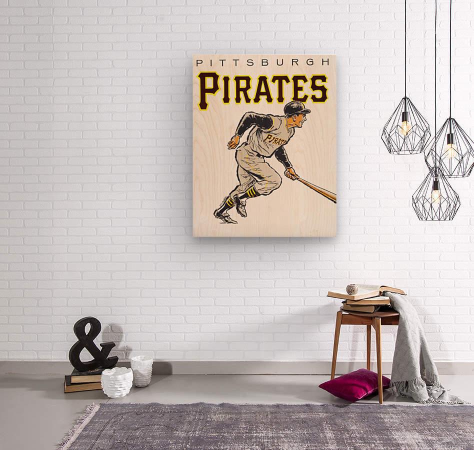vintage pittsburgh pirates wall art  Wood print