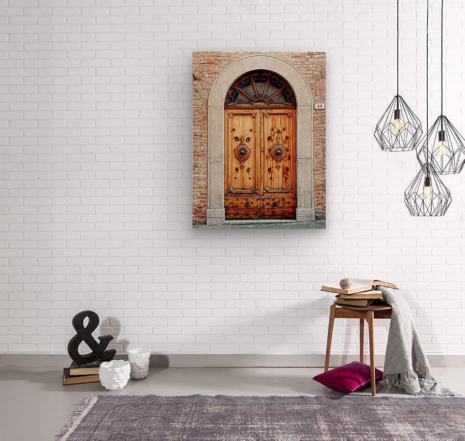 Ornate Wooden Door Citta della Pieve 1  Wood print