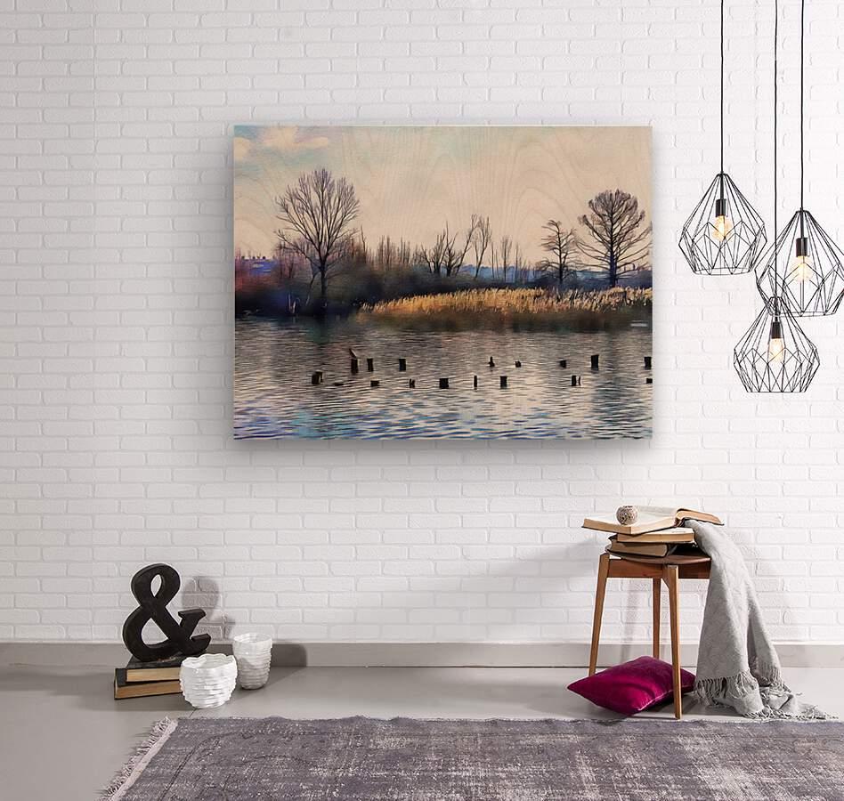 Lago di Chiusi Tuscany  Wood print