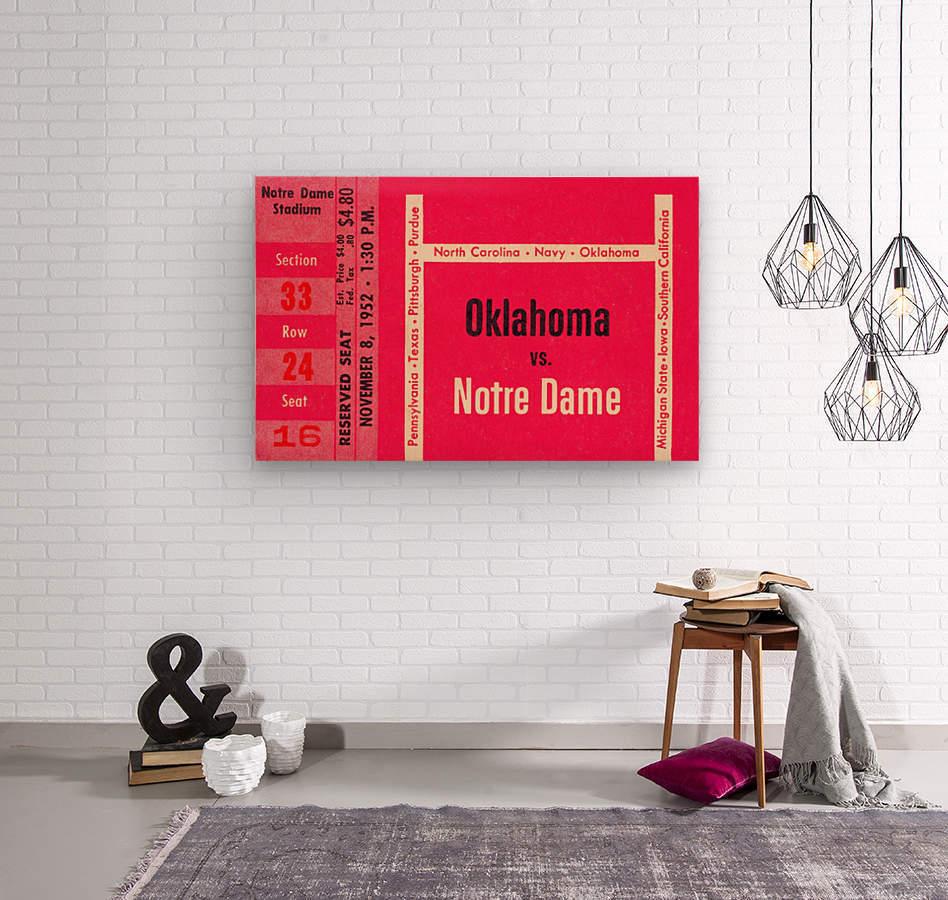 1952 Oklahoma vs. Notre Dame 1st National TV Game  Wood print
