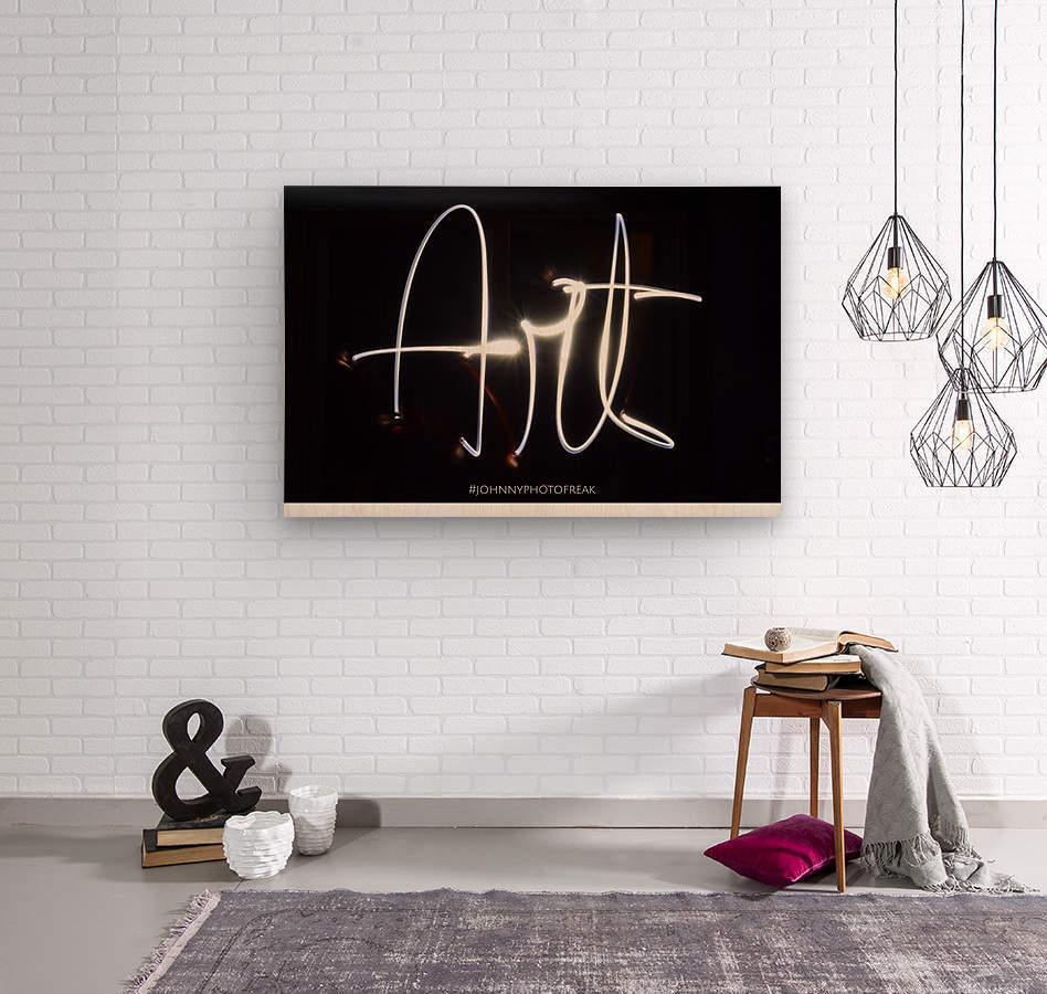 Art light calligraphy  Wood print