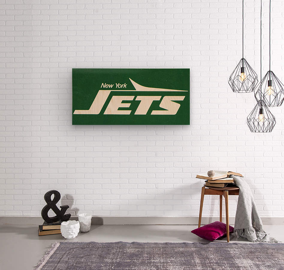 1981 new york jets reproduction artwork  Wood print