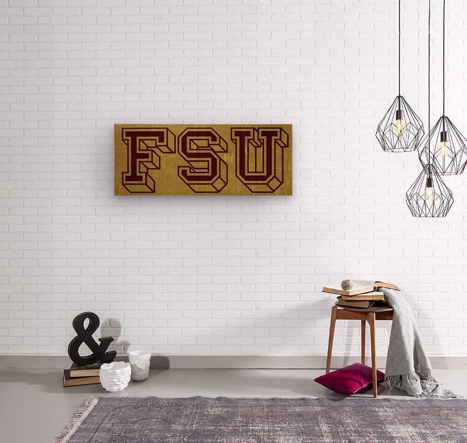 1950s Florida State University Art FSU  Wood print