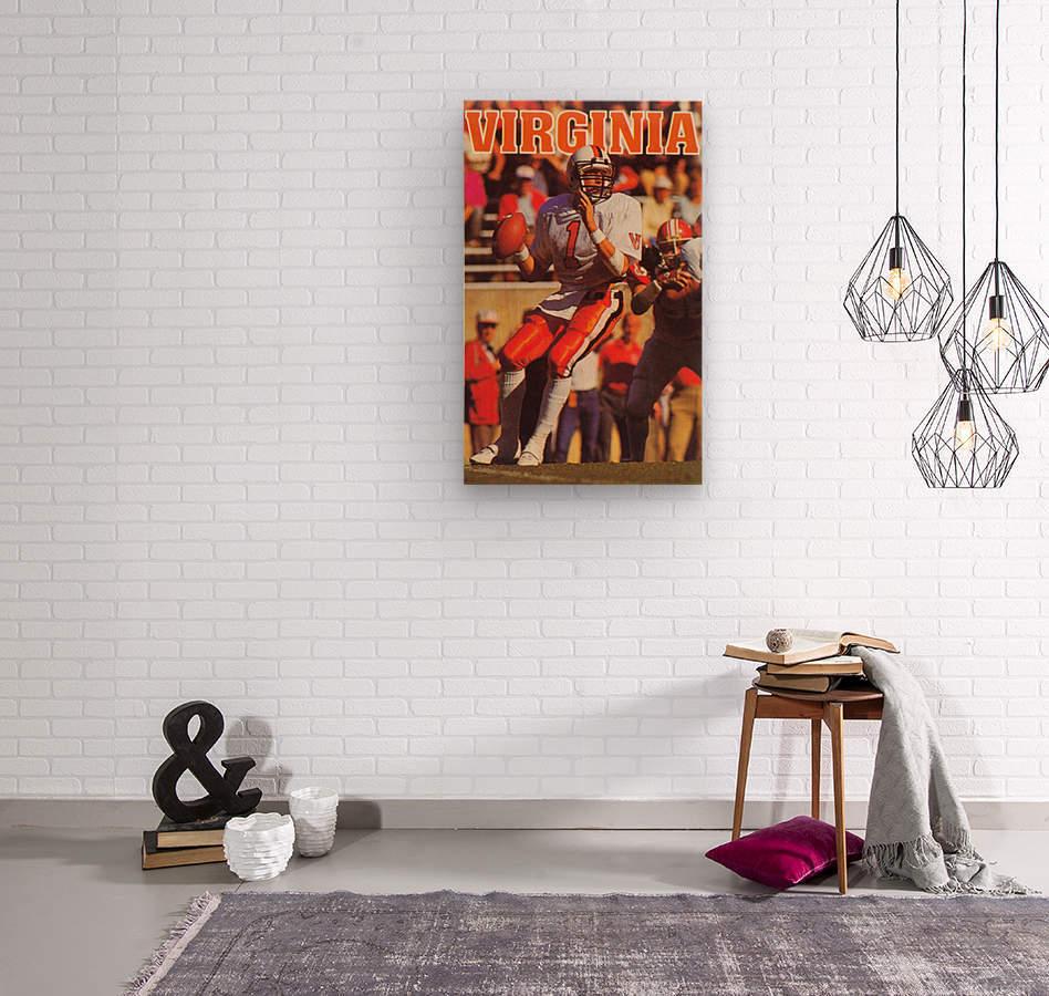 1986 virginia cavaliers football poster  Wood print