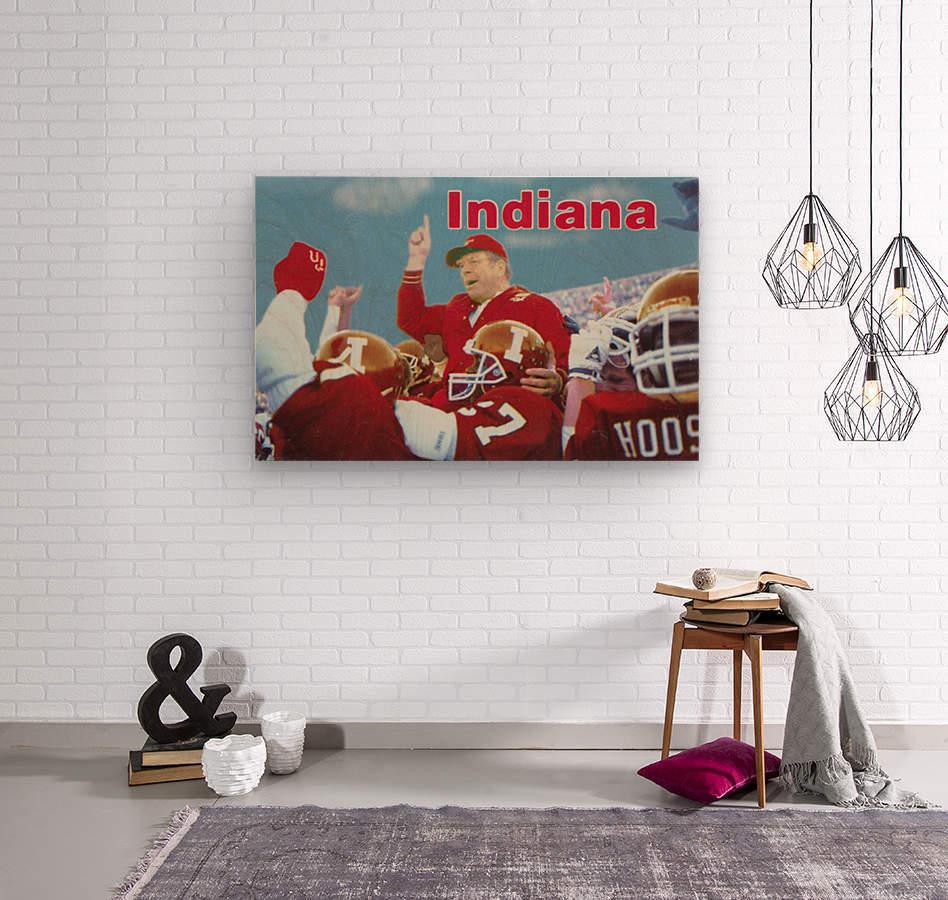 1987 indiana hoosiers iu football wall art  Wood print