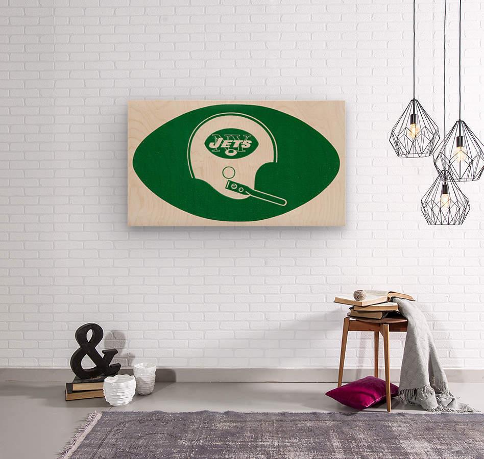 1960s new york jets helmet wall art  Wood print