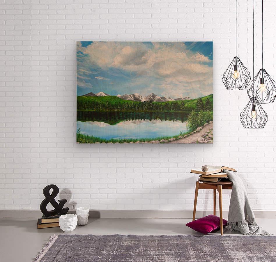 Sprague Lake CO  Wood print