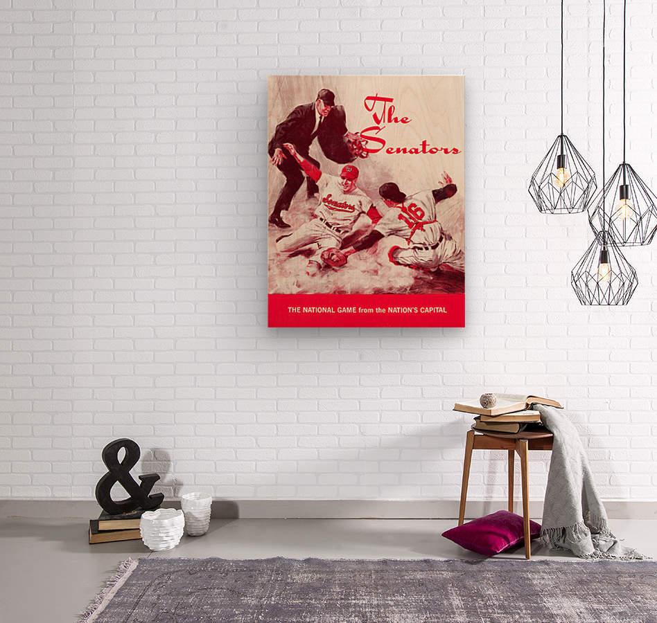 1968 washington senators baseball art  Wood print