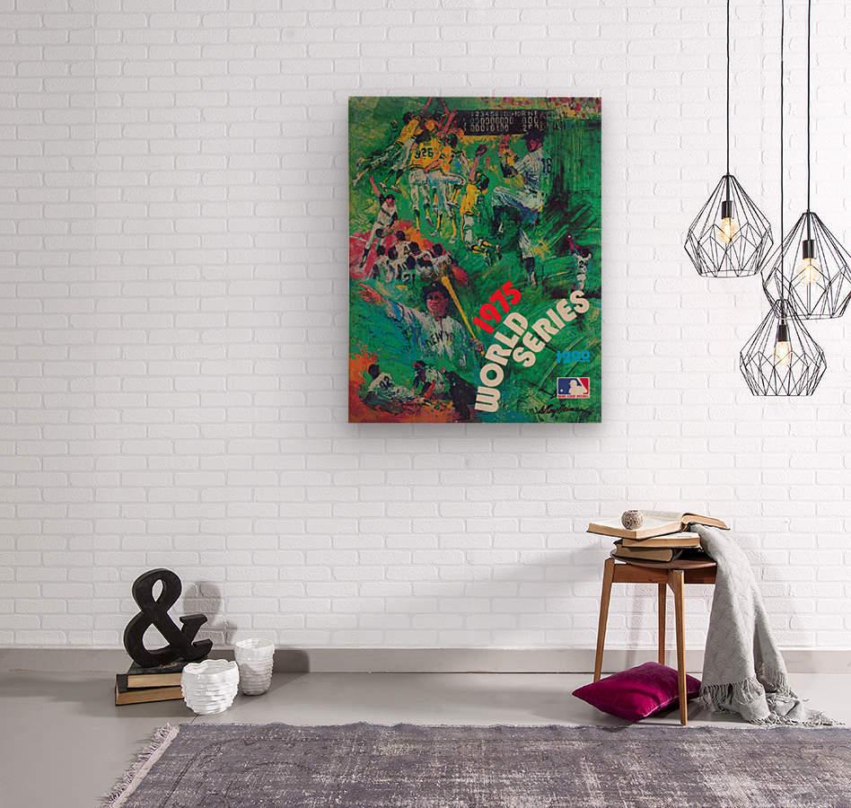 1975 world series program cover leroy neiman wall art  Wood print