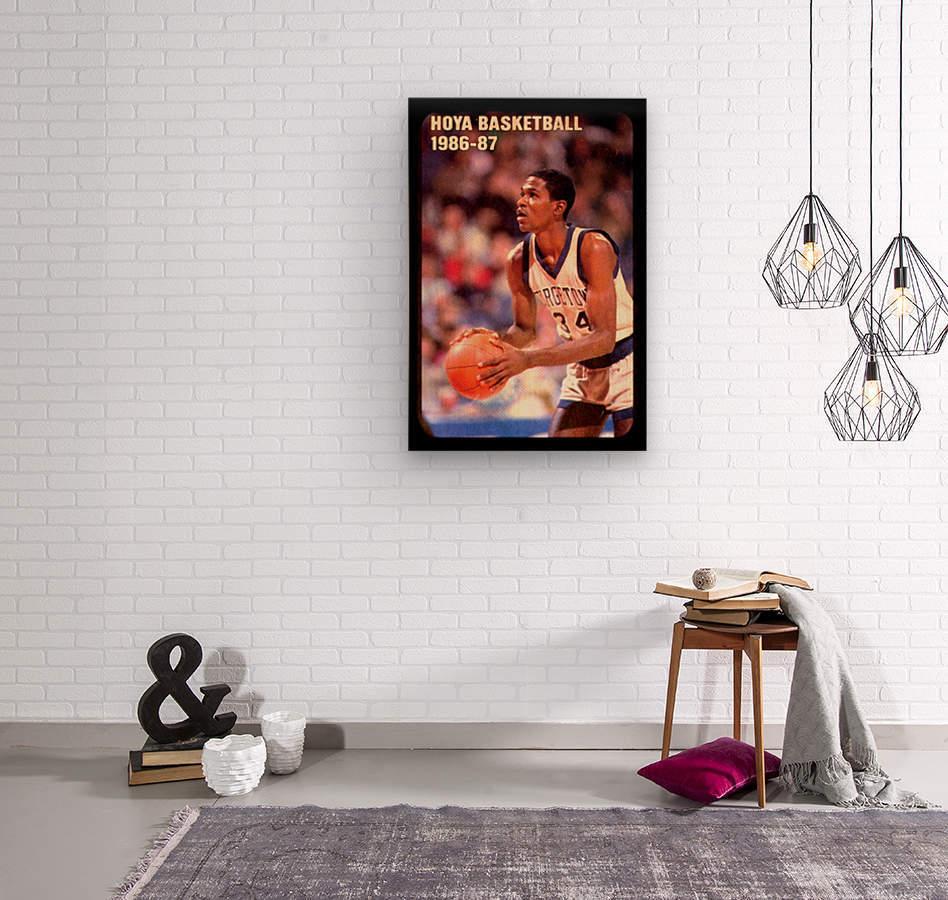 1986 georgetown hoyas basketball reggie williams poster  Wood print