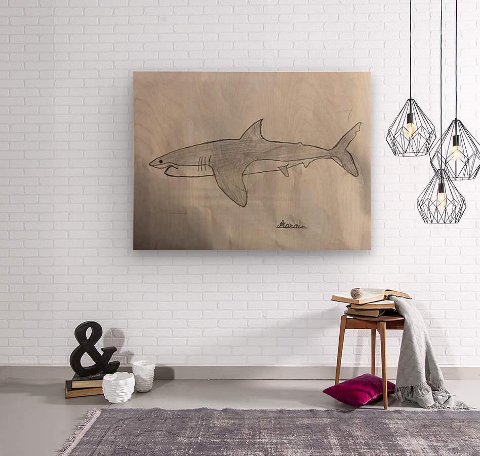Shark Image  Wood print