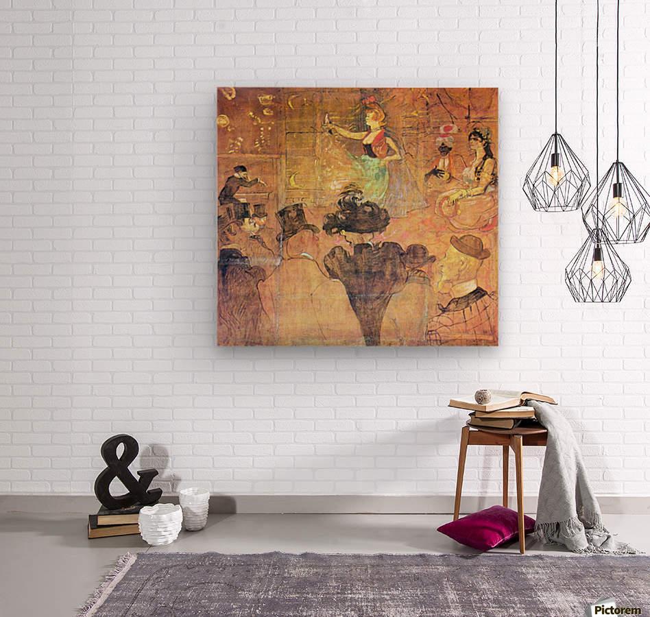 Mauri Dance by Toulouse-Lautrec  Wood print