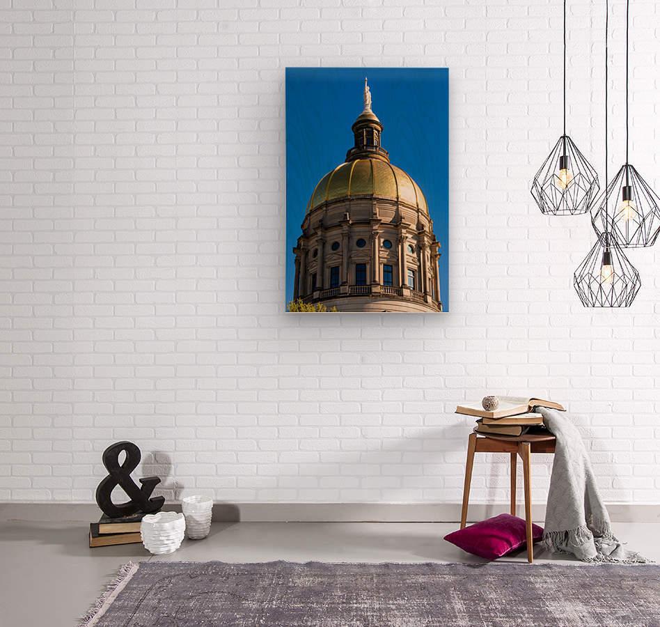 Georgia State Capitol Building   Atlanta GA 7190  Wood print