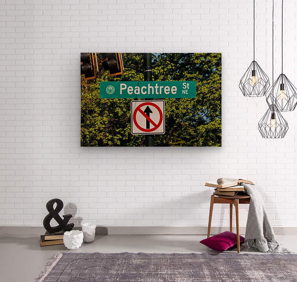 Peachtree St Road Sign   Atlanta GA 7162  Wood print