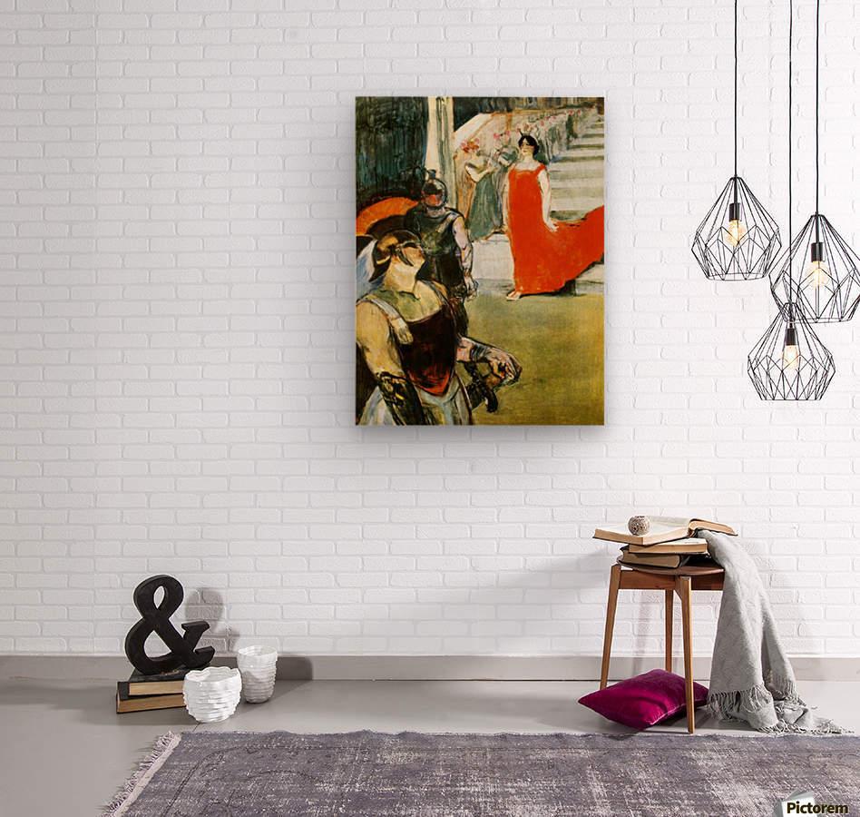Messalina Descending by Toulouse-Lautrec  Wood print