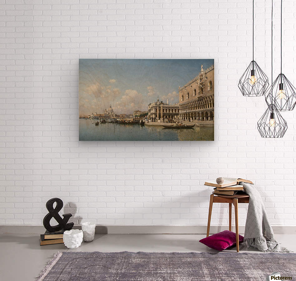 The Doge Palace and Santa Maria Della Salute  Wood print