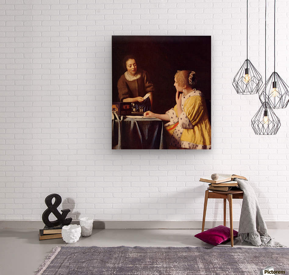 Mistress and maid by Vermeer - Vermeer Canvas