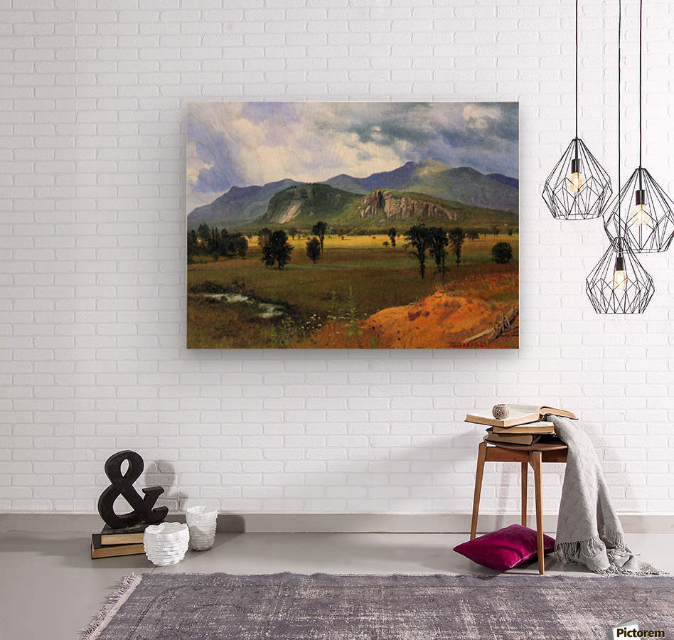 Moat Mountain, Intervale, New Hampshire by Bierstadt  Wood print