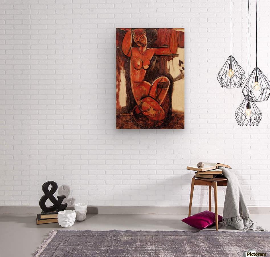Modigliani - Caryatid -5-  Wood print