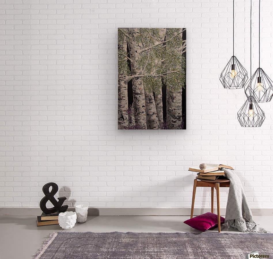 Snowdust in Spring  Wood print