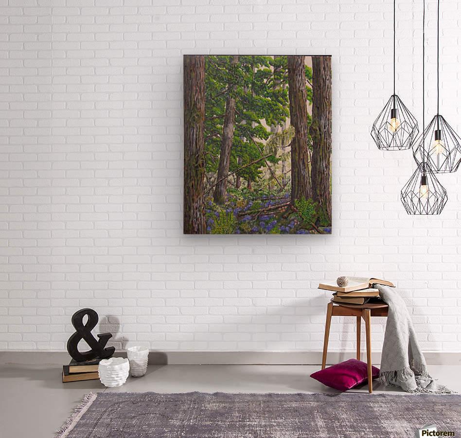 Fairies Forest  Wood print