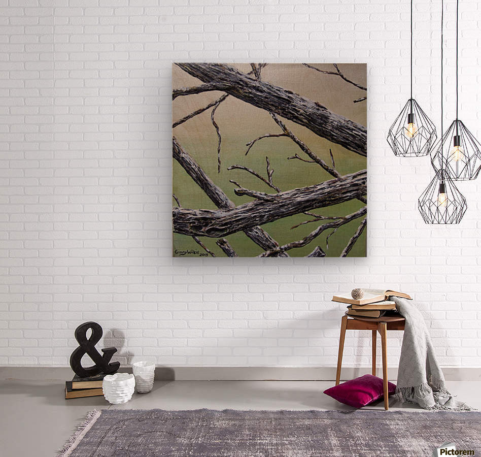 Branches Squared  Wood print