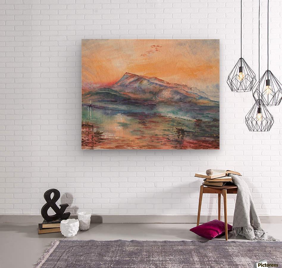 Mount Rigi Switzerland Lake  Wood print