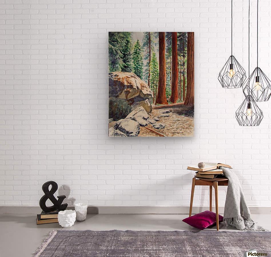 National Park Sequoia  Wood print