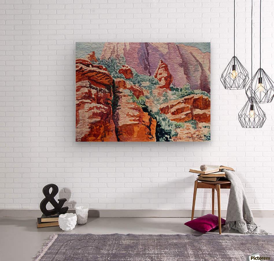 Sedona Arizona Rocky Canyon  Wood print