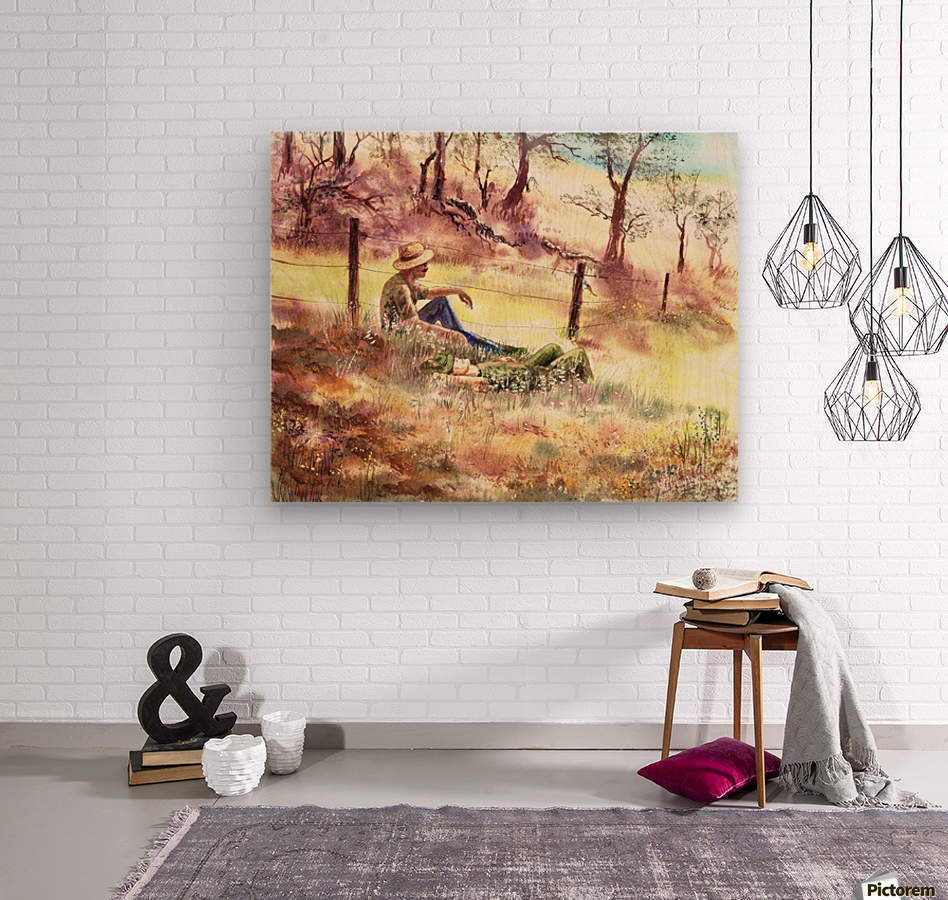 Farmers And Hunters Heaven  Wood print