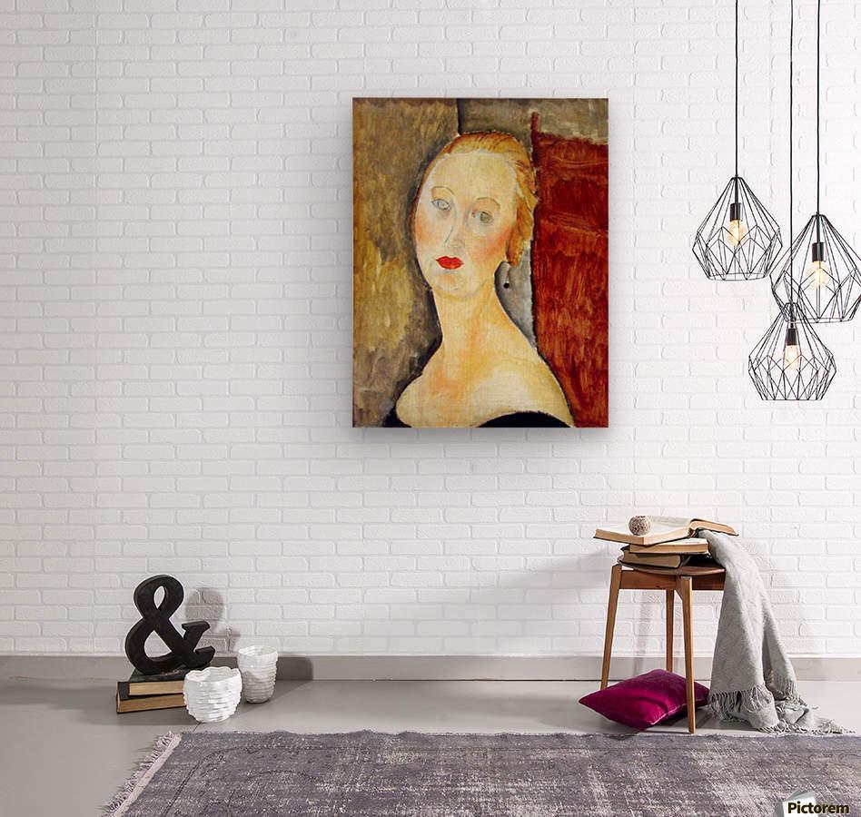 Modigliani - Portrait de Germaine Survage  Wood print