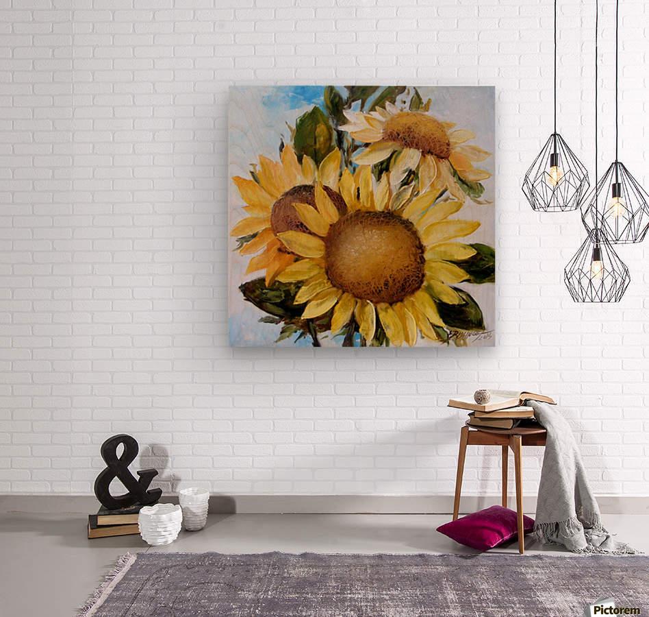 Floarea soarelui  Wood print