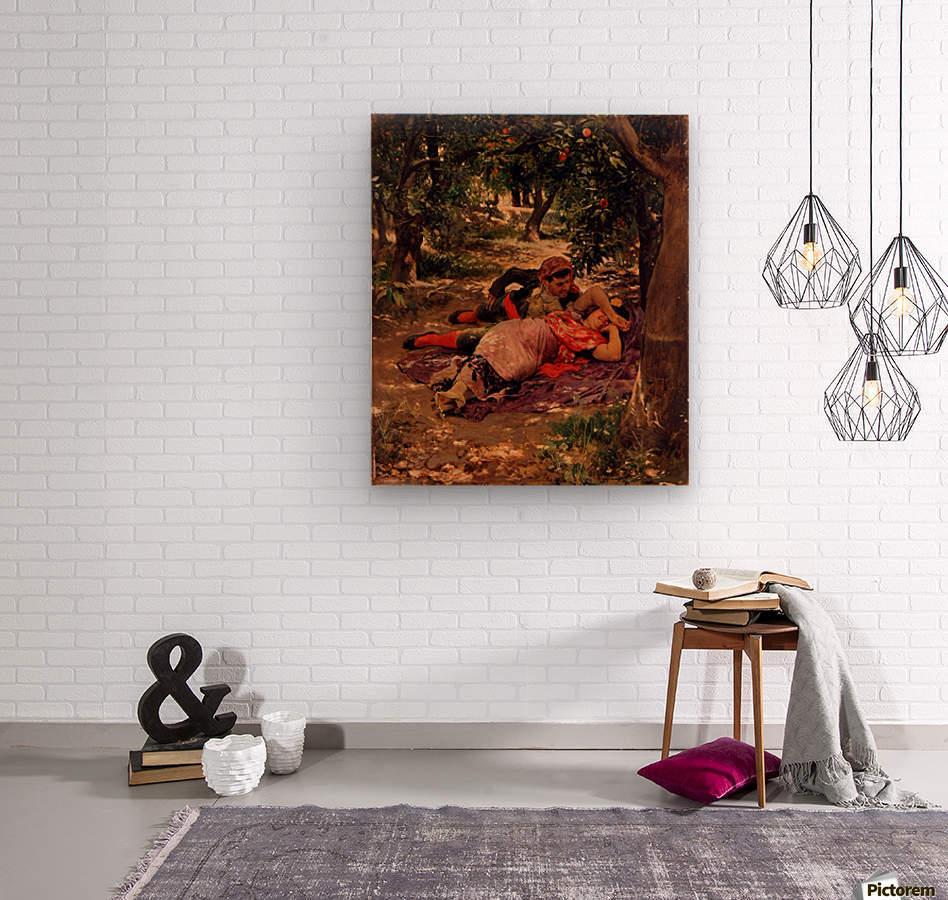Bajo los Naranjos  Wood print