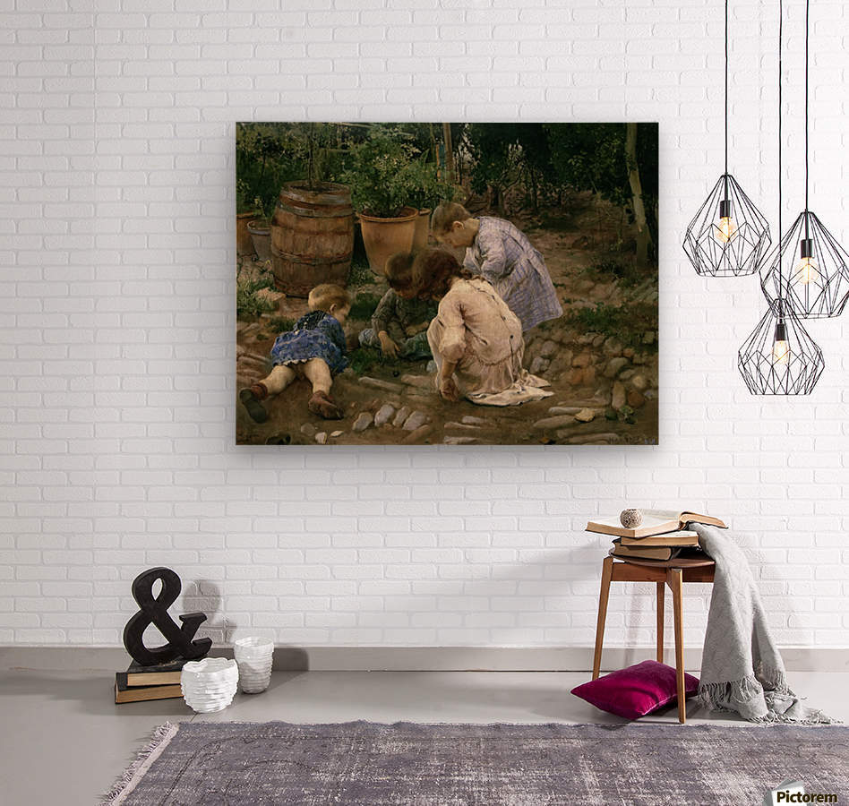 The Small Naturalists  Wood print