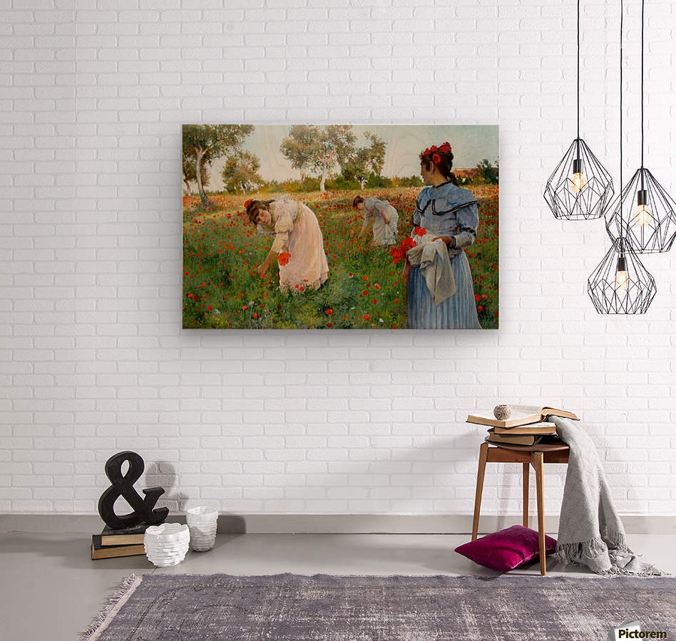 Three little Spanish ladies  Wood print