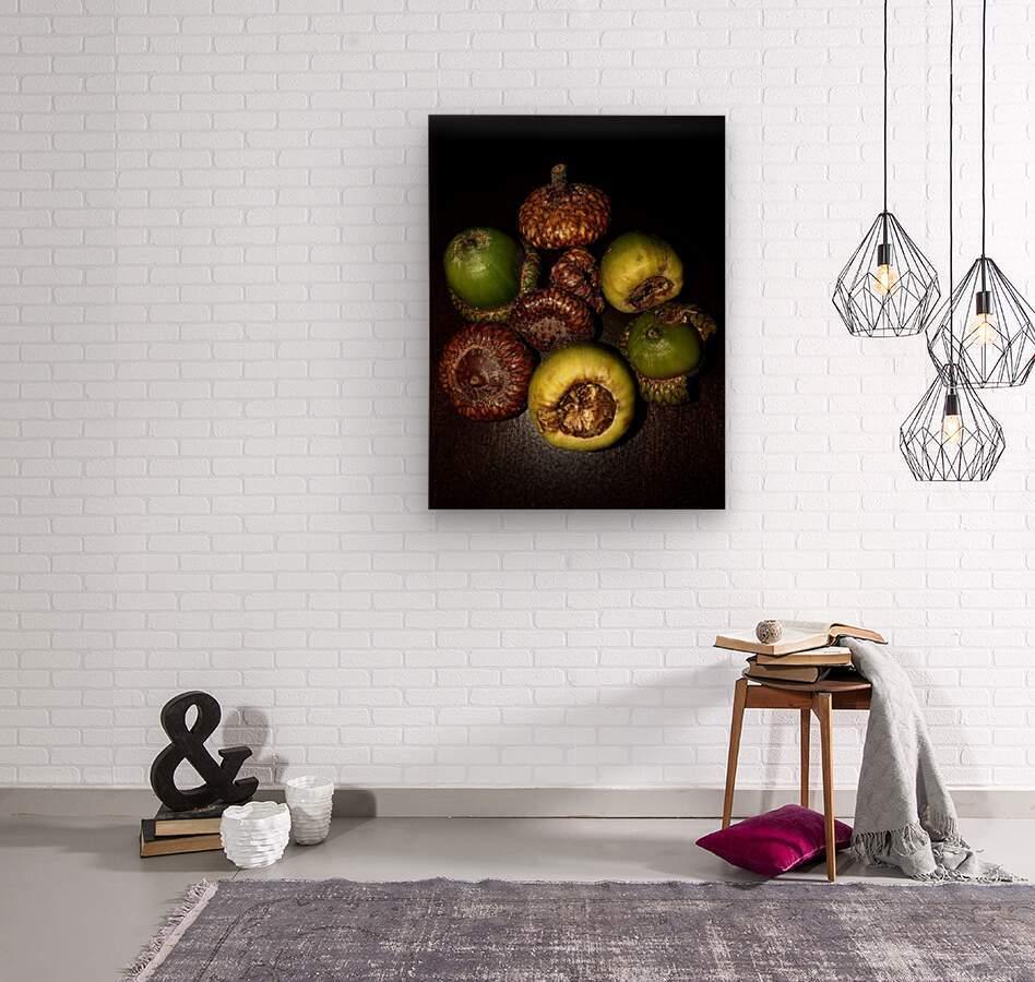 Acorn arrangement  Wood print