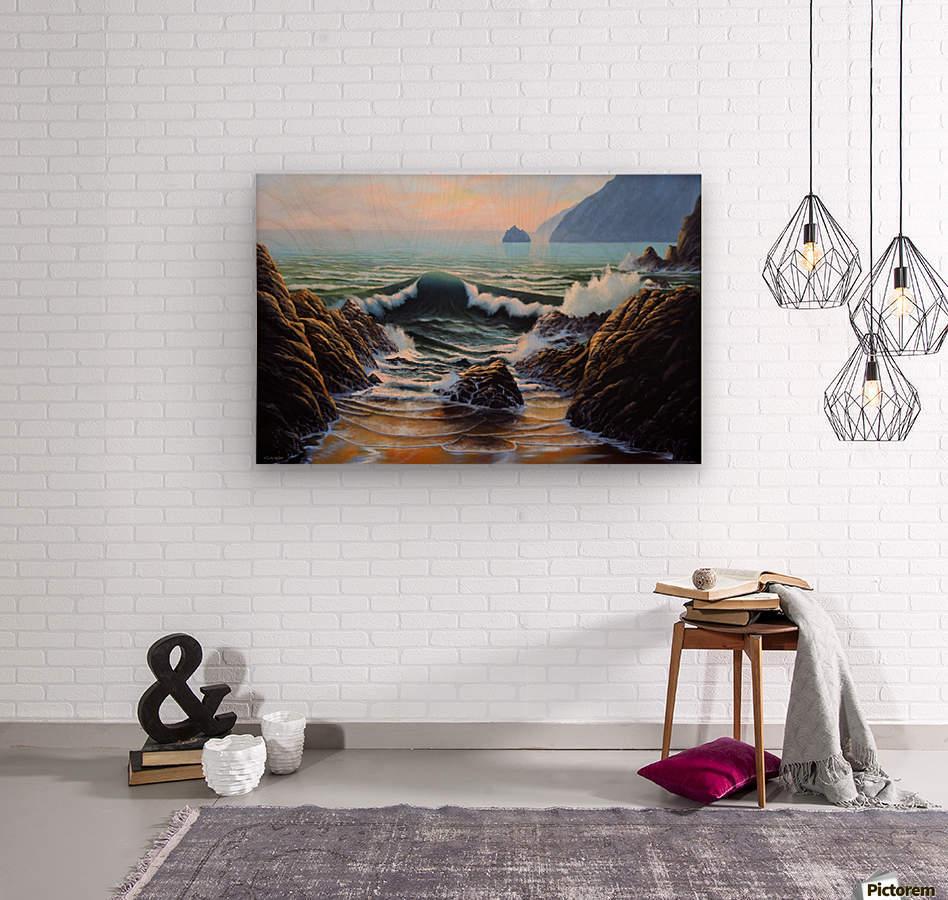 Dancing Tide  Wood print