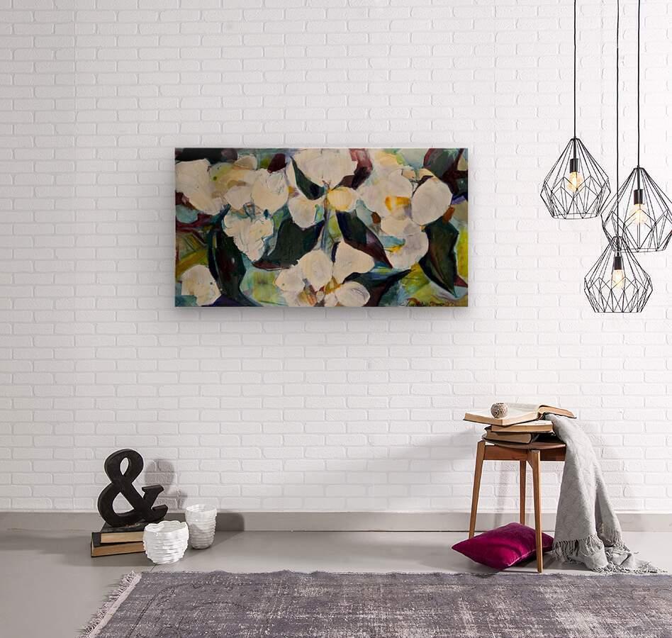 Louisiana Cubist Magnolia  Wood print