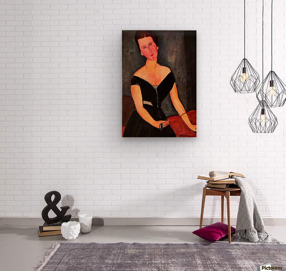 Modigliani - Portrait of Mrs van Muyden  Wood print