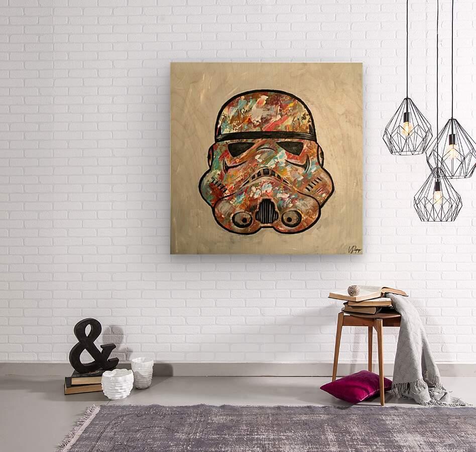 Storm Trooper  Wood print