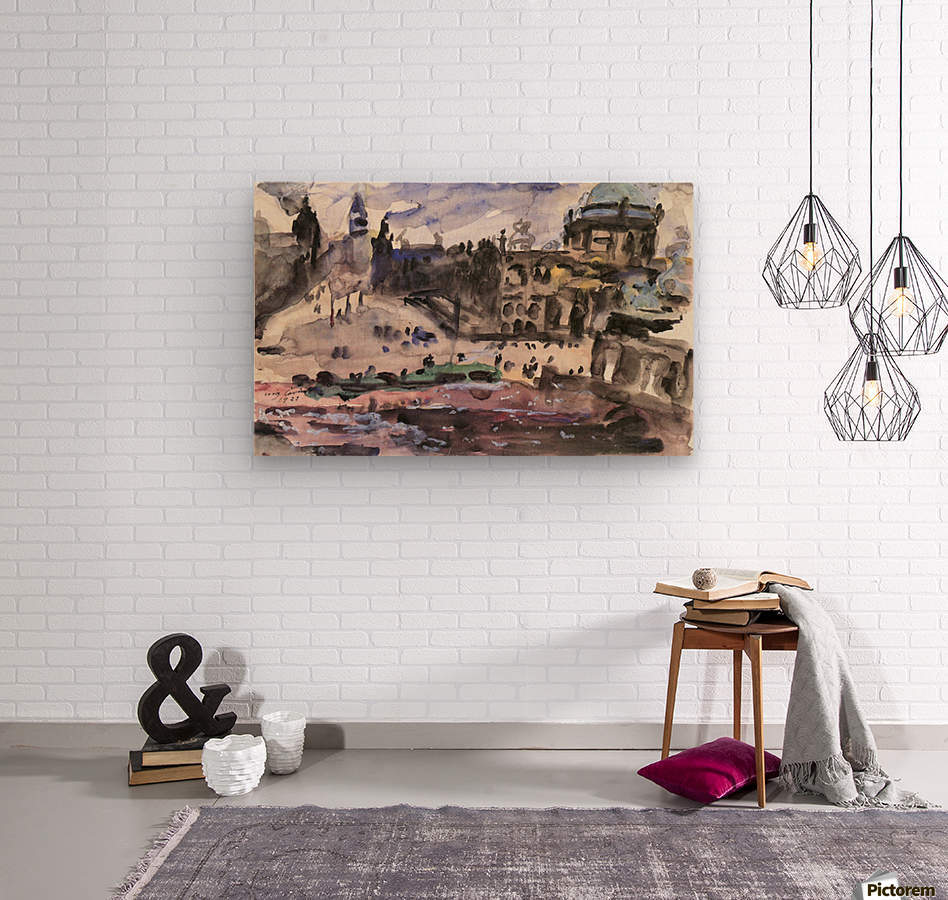 Freedom Castle by Lovis Corinth  Wood print
