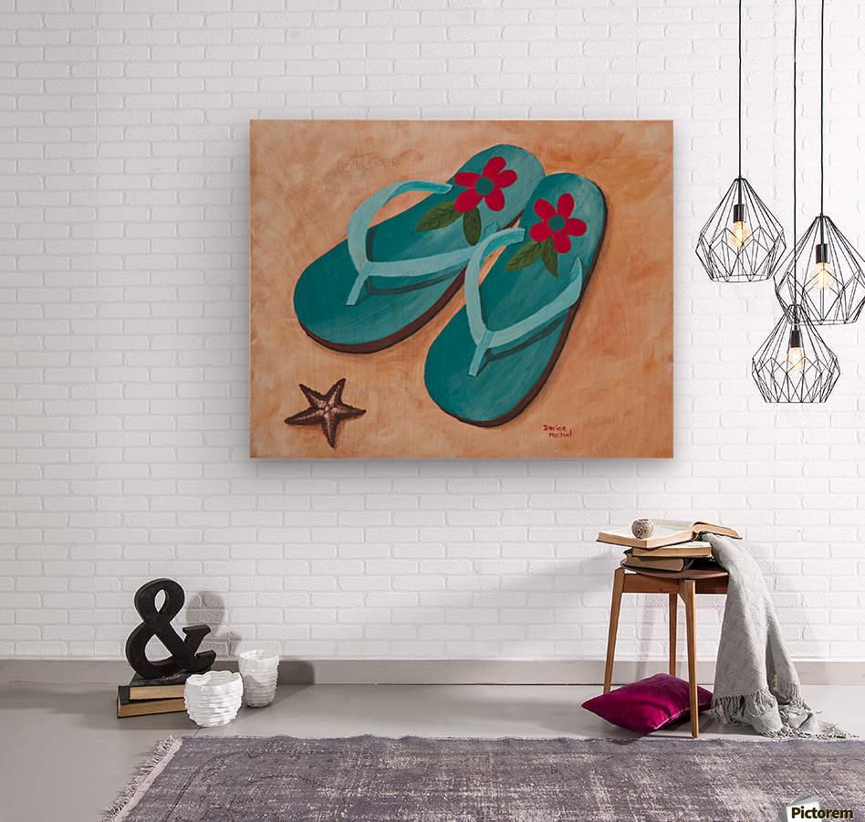 Flip Flops  Wood print