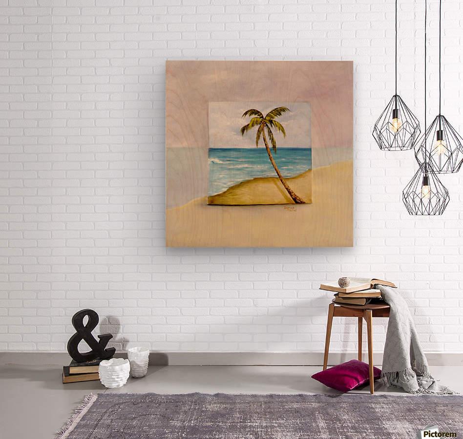 Swaying Palm  Wood print