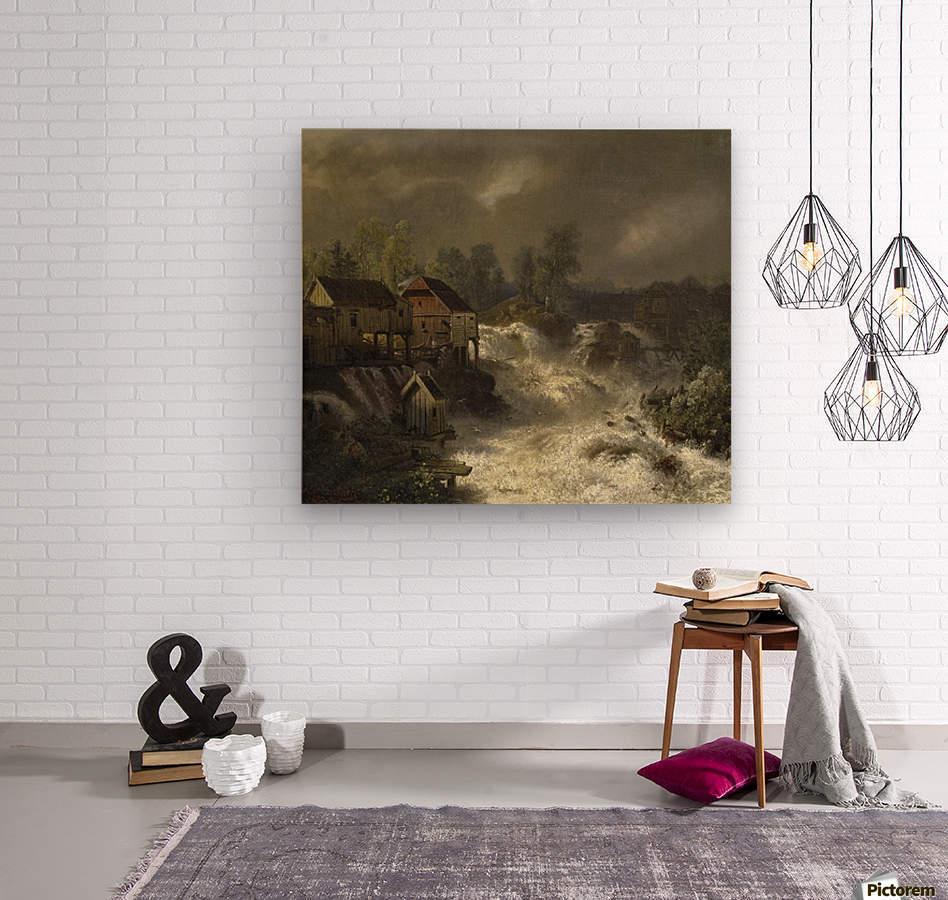 Die Wasserfalle von Trollhattan in Schweden  Wood print