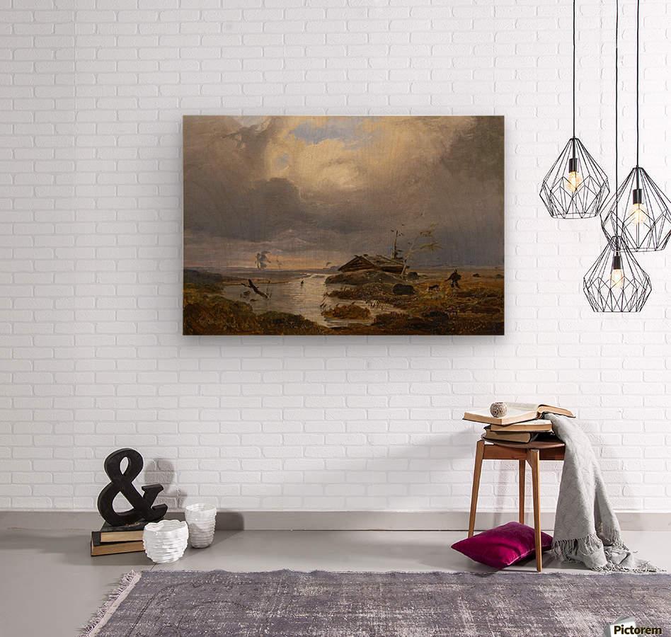 Skandinavische Landschaft  Wood print
