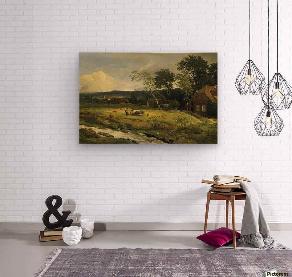 Landschaft in Hessen  Wood print