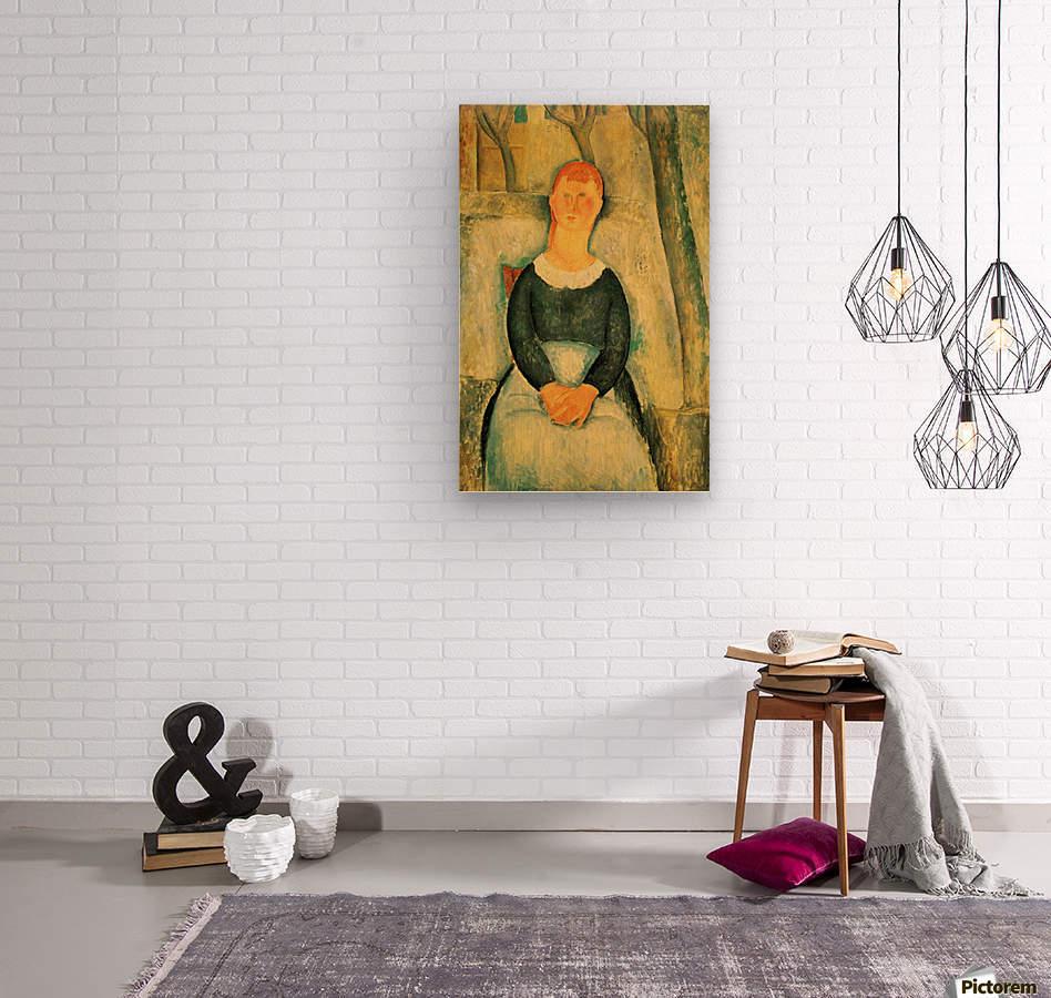 Modigliani - The beautiful merchant  Wood print