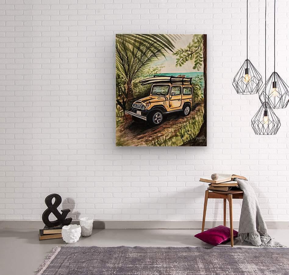 Collection COSTA RICA-Jeep  Impression sur bois