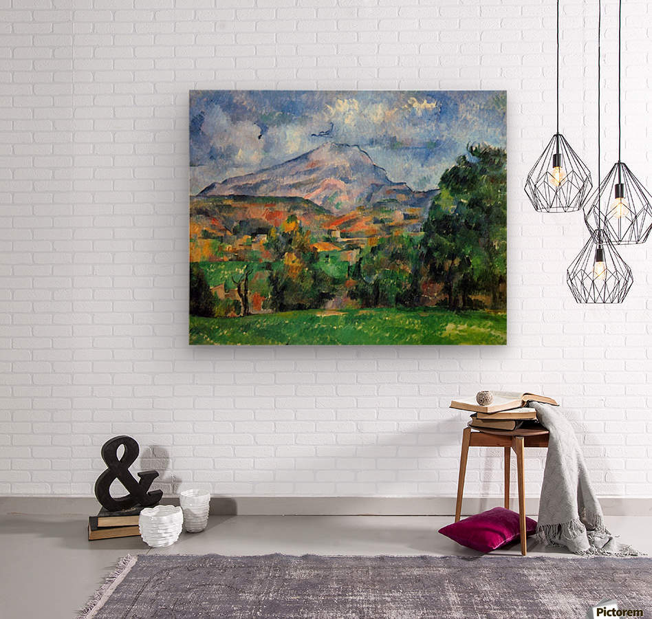 Mount St. Victoire by Cezanne  Wood print