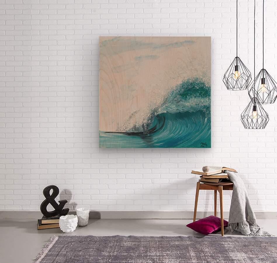 Collection WAVES-Barrel  Impression sur bois